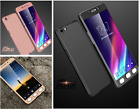 Front back Full Body 360° Degree Hard Case Cover & Tempered Glass For OPPO A57