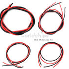 10 12 14 16 AWG Gauge Wire Flexible Silicone Copper Cables For RC Black Red 2m