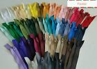 10 inch closed end zips Mixed pastel neutral bright  black/white/navy bundles