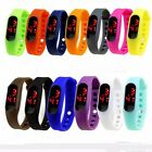 New Fashion Children Kids LED Waterproof Digital Watches Silicone Wristwatches