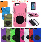 Heavy Duty Hybrid Armor Defender Cover Silicone Ring Stand Case iPhone 6 Plus