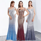 Sequin Mermaid Long Formal Evening Dress Ever-Pretty Cocktail Ball Gown 08999