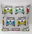 Official VW logo Campervan Alpine/Nautical colours filled cushions
