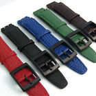 Genuine Leather Strap Band to fit Gents Swatch Watch 17mm choice of colours