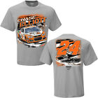 2017 CHASE ELLIOTT #24 LITTLE CAESAR'S PIZZA SPOILER GREY SHORT SLEEVE TEE SHIRT