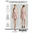 Simplicity 8086 Sewing Pattern Dress with Overlay Misses 4-20 by Cynthia Rowley