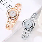Women Casual Double Circles Hollow Round Case Quartz Chain Wrist Watch Dreamed