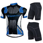 Mens Cycling Jerseys Outfits Padded Shorts Tights Quick Dry Tops Biking Clothing