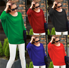 BT Womens Oversized Baggy Batwing Quality Knitted Top / Jumper