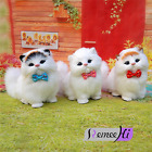 4 Styles Simulation animal super cute cat leather soft plush cat doll kids gifts