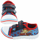 Boys Blue JAKE AND THE NEVERLAND PIRATES Canvas Pumps Trainers Touch Fastening