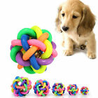 Dog Puppy Pet Knot Cotton Rope knotted Rubber Sound Ball Bell Chewing Toy XI SU