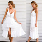Women Summer Sundress Vintage Boho Long Maxi Evening Party Beach Dresses Lace