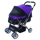 Newest Pet Stroller Dog 4 Wheels Carrier Cats Outdoor Carriage Puppy Travel Car