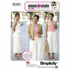 Simplicity 8093 Sewing Pattern Mimi G Style Misses 6-24 Top Wide Leg Pant Jacket