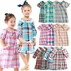 "Vaenait Baby Kids Girls Short Sleeve One-piece Pajama ""Cozy Check set"" 2T-10T"