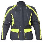 RST Rallye Waterproof Textile Motorcycle / Motorbike Jacket - Flo Yellow