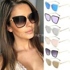 Womens Ladies Vintage Cat Eye Oversized Large Sunglasses Outdoor Eyewear UV400