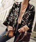 ZARA *Black Embroidered Kimono Jacket* NEW_S-M_L-XL