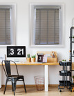 Haze Faux Wood Venetian Blinds With Tapes - A Grey To Brown Coloured 50mm Slat