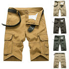 Men's Cotton Casual Shorts Pants Fashion Multi Pocket Baggy Cargo Sports Shorts