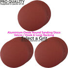 10 PACKS– 300mm Diameter Aluminium Oxide Sanding/Grinding Discs–Hook & Loop Back