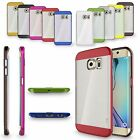 For Samsung Galaxy S6 S7 Edge Hybrid Rugged Brushed Shockproof Case Bumper Cover