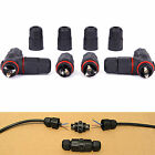 3x Waterproof Electrical Cable Wire 2-pin/3-pin Connector IP67 for Outdoor Using