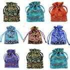 Satin Jewellery Pouches Drawstring Patterned Gift Bags Premium Quality Wholesale