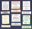 6 STARTING A NEW SCHOOL Card Craft Verse Toppers W/WO Matching Sentiment Banners