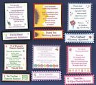 6 TY CLASSROOM / TEACHING ASST Verse Toppers W/WO Matching Sentiment Banners