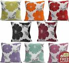 Chenille Poppy Cushion Cover Modern Floral Sofa Bed Scatter Cushions Cover Small