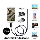 Waterproof HD Cell Phone PC Endoscope Borescope 7mm USB Inspection Camera US
