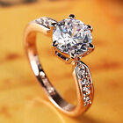 Classic Engagement Rings Women Crystal Wedding Ring Jewelry Size 6 7 8