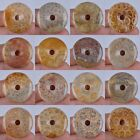 30mm Coral fossil donut pendant bead *each one pictured*