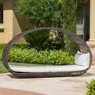 Bedford Outdoor Wicker Overhead Canopy Daybed w/ Water Resistant Cushion