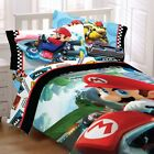 MARIO KART BEDDING SET - Nintendo Road Rumble Racing Video Game Comforter Sheets