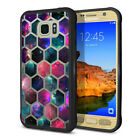 For Samsung Galaxy S7 ACTIVE G891 Black Hybrid Bumper Clear Crystal Case Cover