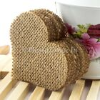 50/100 Burlap Heart for Wedding Decoration Scrapbooking Card Making