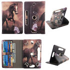Universal Tablet Case 10 inch Folio Stand Leather Rotating Cover Card Cash Slots