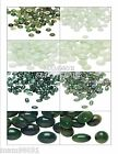 Cabachon Flat Back Beads ~ Acrylic GREEN MARBLED ~ Various Sizes, Shape & Colors