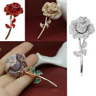 2017 Luxury Rhinestone Crystal Rose Brooches Pins For Mom Gifts Jewelry Handmade