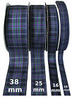Pride of Scotland Highland Tartan Ribbon;various widths, cut lengths & 25m reels