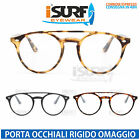 OCCHIALI MARCA ISURF MODELLO SO REAL NERD ROUND NEUTRAL FASHION LENTE NEUTRA