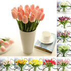 10*Artifical Real Touch Tulips Flower Bouquet #Wedding PARTY Holiday Home Deco**