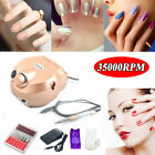 35000RPM Manicure Electric Drill Tool Grinding Nail Art Pen File Machine Kit