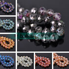 NEW 10pcs 12mm Faceted Glass Crystal Loose Spacer Beads DIY Jewelry Making