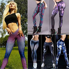 Women Skinny Sports Leggings Printed Pants Gym Stretchy Trousers Plus Size 6-14