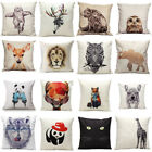 18'' Vintage Cotton Linen Pillow Case Sofa Waist Throw Cushion Cover  Home Decor
