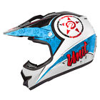 M2R X2.6 Linguistic PC-1 Red/Blue MX/Motorcross Helmet - New Product!!!